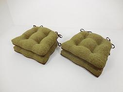 Essentials 19-63448OLE Bailey Woven Chenille Chair Pads with