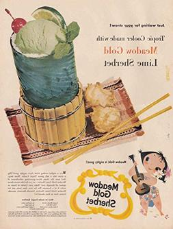 1954 Meadow Gold Sherbet: Tropic Cooler, Beatrice Foods Prin