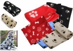 1X Pet Small Medium Large Paw Print Pet Cat Dog Fleece Soft