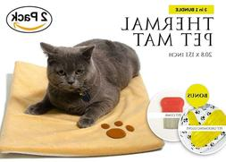 2 PACK Thermal Mat - Self Warming Heating Pad for cats / dog