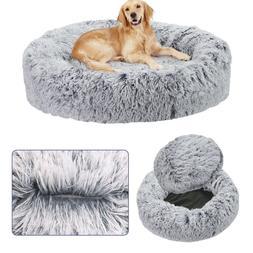 "20-46"" XXL XL Large M S Round Donut Pet Cat Dog Bed Deep Cal"