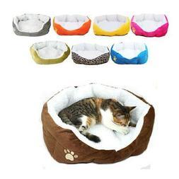 2019 S M Size Pet Dog Cat Soft Fleece Warm Cotton Bed House