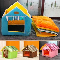 2018 Pet Cat Dog Bed House Foldable Soft Nest Detachable War