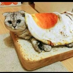 2019 Cute Omelette Pet Blankets Puppy Cat Short Plush Pet Ma
