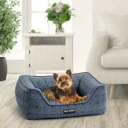 21 x25 rectangular cuddler dog bed blue
