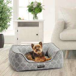 21 x25 rectangular cuddler dog bed gray