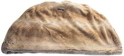 GoodDogBeds 26 by 16 by 22-Inch Faux Fur Cubby, Medium, Brow