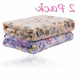 2Pack Puppy Blankets for Pet Cushion Small Dog Cat Bed Car S