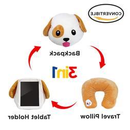 "3 in 1 Dog Emoji Pillow Emoticon Cushion Plush Toy 13"" Same"