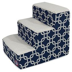 3 Step Portable Pet Stairs By Majestic Pet Products Navy Blu