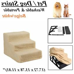 3 Steps Pet Stairs Ramp For Small Dogs Cat Animal Ladder Bed