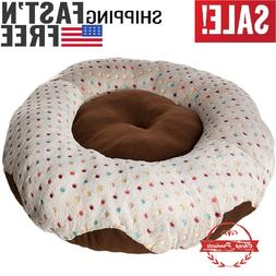 "30"" Delicious Donut Doggie Bed, Bagel Dog Pillow & Crate Pad"