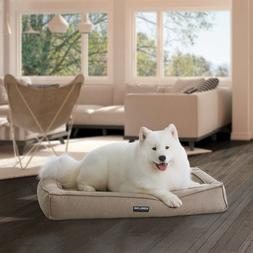 "Kirkland Signature 30"" x 40"" Orthopedic Bolster Dog Bed with"