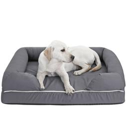 "36"" Waterproof Dog Bed Orthopedic Memory Foam Medium Firmnes"