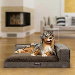 Kirkland Signature 36 x 42 Memory Foam Bolster Dog Bed, Taup