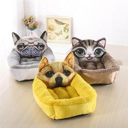 3D Cute Pet Dog Puppy Cat Soft Bed Nest Liner Kennel Pad Coz
