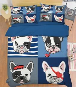 3D Law Dog 10 Bed Pillowcases Quilt Duvet Single Queen King