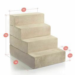 Zinus 4-Step Comfort Pet Stairs / Pet Ramp / Pet Ladder, Lar