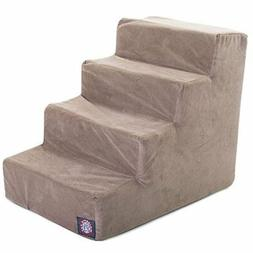 4 Step Stone Suede Pet Stairs By Majestic Pet Products