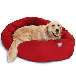 40 Red Bagel Bed By Majestic Pet Products