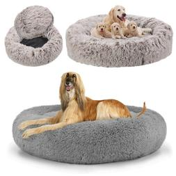 """46""""-20"""" XXL Large Sound Sleep Donut Dog Bed Cat Bed Calming"""