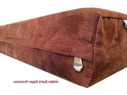 47''x29''x4'' Chocolate Brown MicroSuede Fabric 100% Washabl