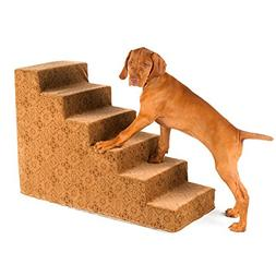 Bowsers 6-Step Designer Dog Stairs in Flamingo Bones