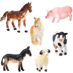 6pcs kids toy plastic action figure farm