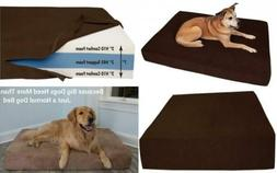 """Big Barker 7"""" Pillow Top Orthopedic Dog Bed for Large and Ex"""