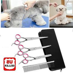"7""Professional Pet Dog Grooming Scissors Set Straight&Curved"
