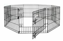 Petmate Exercise Pen W/Door Snap-Hook Design Included Ground