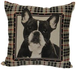 """Brentwood 8238 French Bull Dog Tapestry, 18"""" Pillow"""