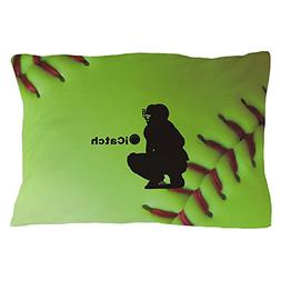 CafePress - Icatch Fastpitch Softball - Standard Size Pillow