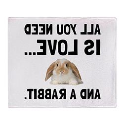 CafePress - Love And A Rabbit - Soft Fleece Throw Blanket, 5