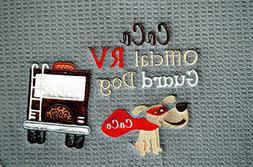 Custom Personalized Dog Feeding Mat, RV Dog Placemat, RV Dec