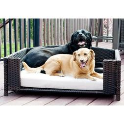 Dog Bed Frame Rattan Wicker Sofa Cushion Indoor Outdoor Smal