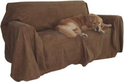 Floppy Ears Design Simple Faux Suede Couch Cover Protector,