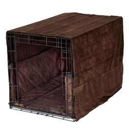 Pet Dreams- Plush Dog Crate Pad, Crate Cover and Bumper Set-