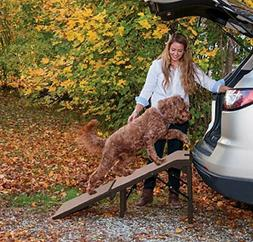 Pet Gear Free-Standing Extra Wide Carpeted Pet Ramp, Chocola