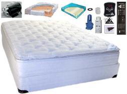 Queen Size 60 x 80 Softside Cotton Pillow Top Waterbed Mattr