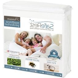 SafeRest Queen Size Premium Hypoallergenic Waterproof Mattre