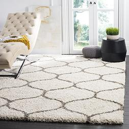 Safavieh Hudson Shag Collection SGH280A Ivory and Grey Area