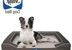 Sealy Dog Bed with Quad Layer Technology, Medium, Modern Gra
