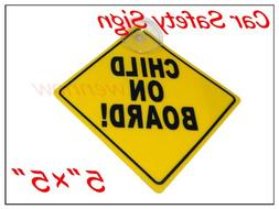 """WennoW® """"Car Safety Signs Child on Board ! 5""""""""X5"""""""" Yellow"""