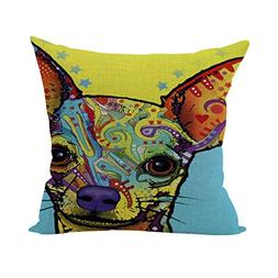 Nunubee Abstract Animals Cotton Pillowcase Decorative Cushio