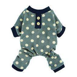 Fitwarm Adorable Polka Dots Fleece Dog Pajamas Pet Coats Sof