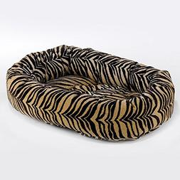 Animal Print Donut Diamond-Microfiber Dog Bed