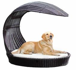 Archie & Oscar Clara Outdoor Hooded Dog Chaise Lounge