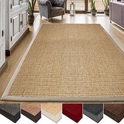 casa pura Area Rug | Sisal Non-Slip Rug for Living Room or B
