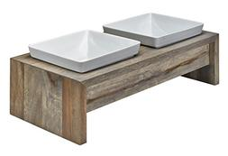 Artisan Diner Double Feeder, Large, Fossil